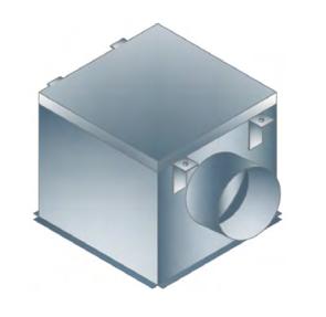 Plenumska kutija za vrtlozni plafonski difuzor VPD-A-PL I VPD-B-PL