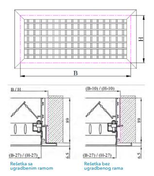 Regulator protoka vazduha za ventilacionu resetku VR-R