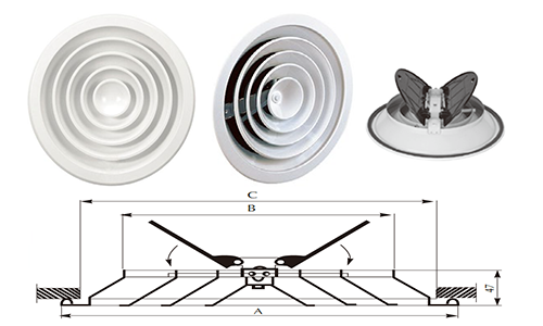 Kružni plafonski difuzor