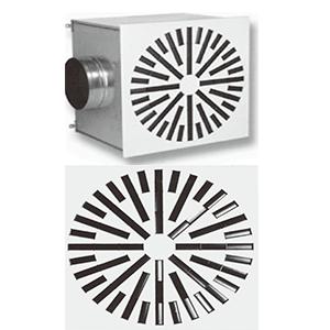 Vrtložni plafonski difuzor VPD-B