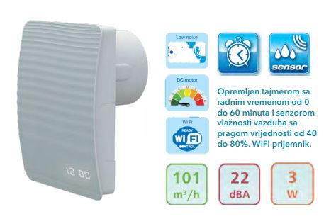 Aksijalni dekor ventilator APOLLO S LED